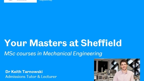 Thumbnail for entry Postgraduate degrees in the Department of Mechanical Engineering