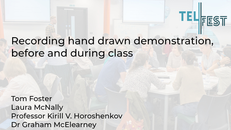 Thumbnail for entry Recording hand drawn demonstration, before and during class