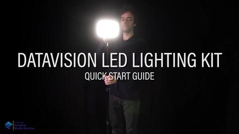 Thumbnail for entry Quick Start Guide: Datavision LED Lights