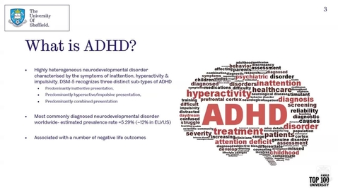Thumbnail for entry Psychology Taster Lecture - Psychopharmacology of ADHD: can we do better?