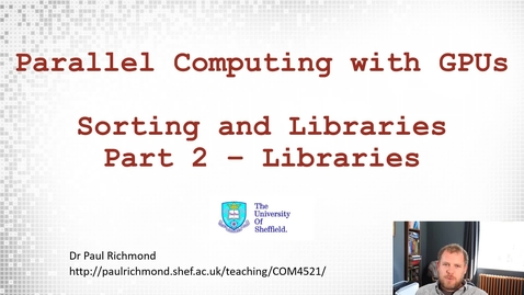 Thumbnail for entry Lecture 16 - Part 02 - Libraries