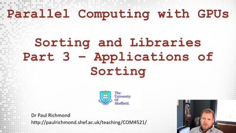 Thumbnail for entry Lecture 16 - Part 03 - Applications of Sort