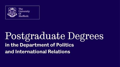 Thumbnail for entry International Relations Webinar