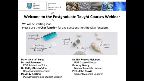 Thumbnail for entry Materials Science & Engineering MSc taster lecture 4