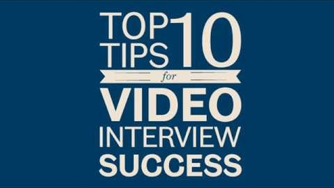 Thumbnail for entry Top tips: Video Interviews