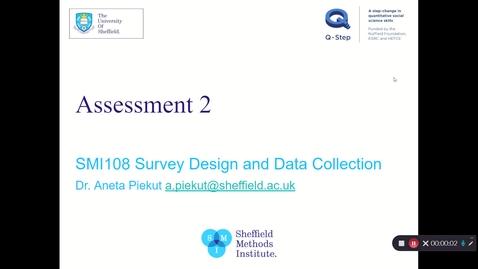 Thumbnail for entry SMI108 Assessment 2