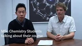 Thumbnail for entry Student interviews: MSc Chemistry