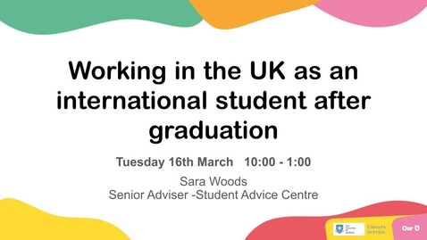 Thumbnail for entry Working in the UK as an international student after graduation