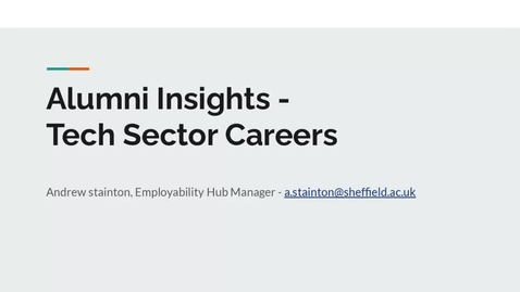 Thumbnail for entry Careers In... Tech Sector