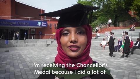 Thumbnail for entry Chancellor's Medal Winner 2017: Saheela Mohammed