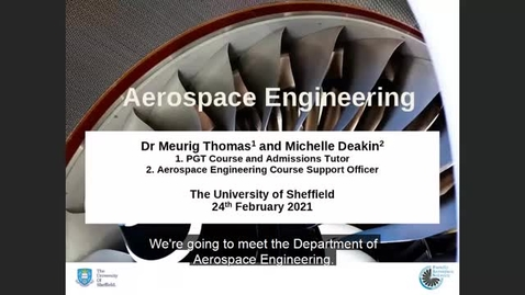 Thumbnail for entry Postgraduate degrees in Aerospace Engineering