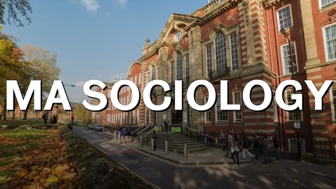 Thumbnail for entry MA Sociology 2019 UoS