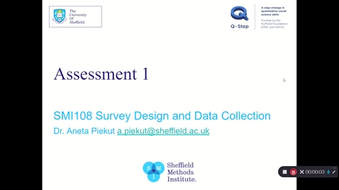 Thumbnail for entry SMI108 Assessment 1