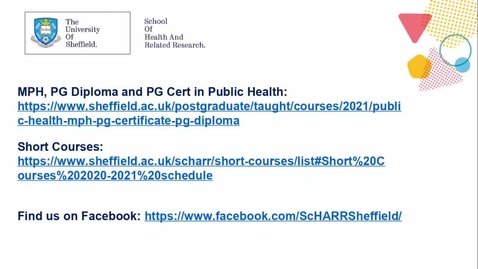 Thumbnail for entry ScHARR Mini Master Class in Health Research 9 - Professor Steven Julious