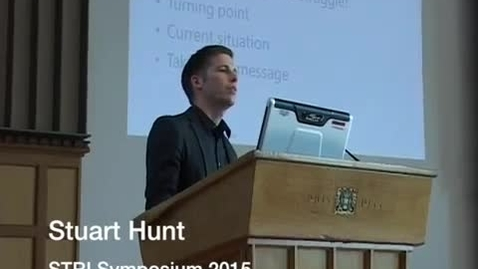 Thumbnail for entry Stuart Hunt - STRI symposium 2015