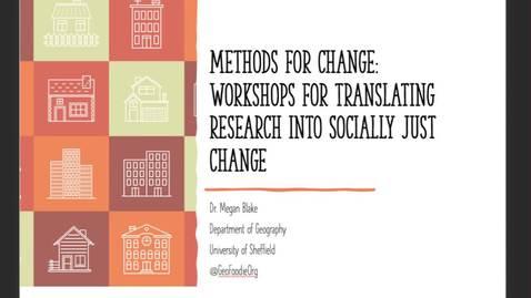 Thumbnail for entry Methods for change 6 Nov 2020,
