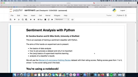 Thumbnail for entry Machine Learning Practical & Intro to Google Colab