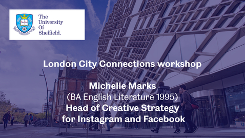 Thumbnail for entry London City Connection 2021 - Workshop 3 - Michelle Marks
