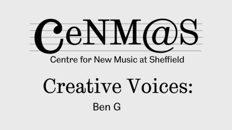 Thumbnail for entry Ben Gaunt talks about 'Empty Hand, Peaceful Mind'