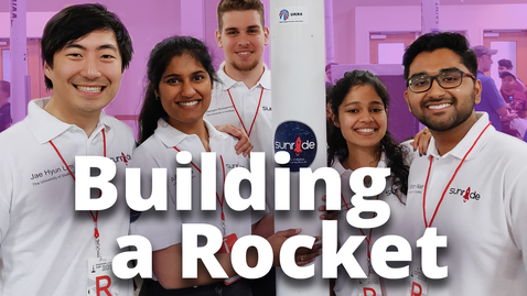 Thumbnail for entry The rocket built by students | Sheffield Space Initiative