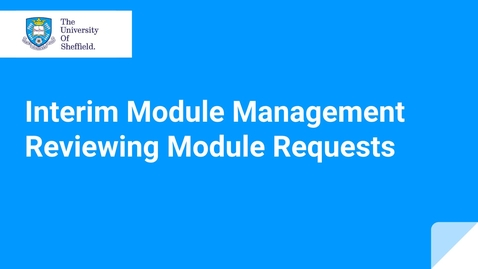Thumbnail for entry IMM Reviewing module requests