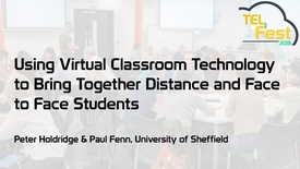Thumbnail for entry Using virtual classroom technology to bring together distance and face-to-face students