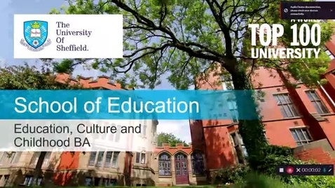 Thumbnail for entry Education, Culture and Childhood, BA - Pre-Application Open Day Talk (recorded September 2021)