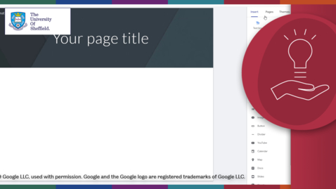 Thumbnail for entry How to create a Google Site