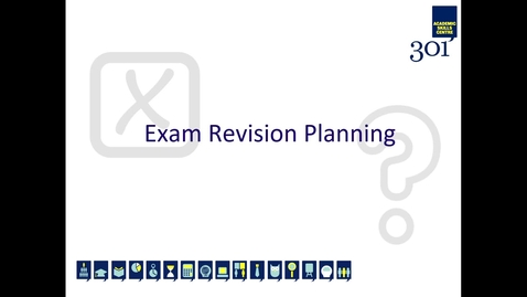Thumbnail for entry Exam Revision Planning