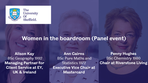 Thumbnail for entry The Boardroom - Women in the Boardroom (Panel Event)