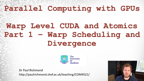 Thumbnail for entry Lecture 12 - Part 01 - Scheduling and Divergence