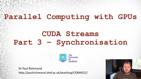 Thumbnail for entry Lecture 17 - Part 03 - Synchronisation
