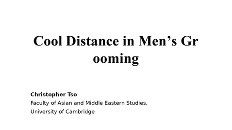 Thumbnail for entry Research seminar: Body cultures and masculinities in Japan
