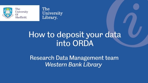 Thumbnail for entry How to deposit your data into ORDA