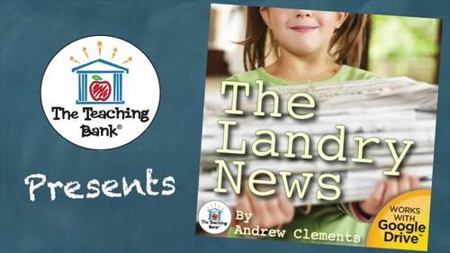 The Landry News Novel Study Book Unit