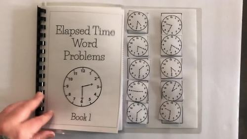 Time Word Problems-3 adapted books, Special Ed