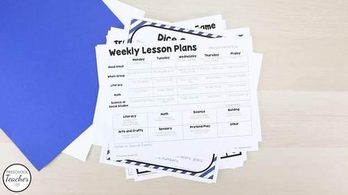 Transportation Theme Preschool Lesson Plans