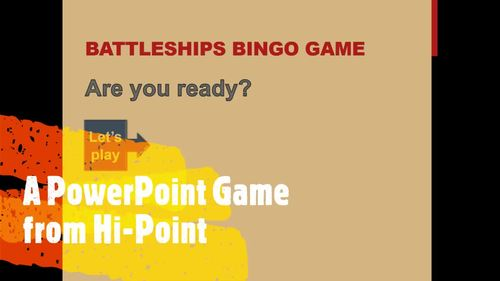 PowerPoint Game: Battleships Bingo Time-Filler Fun