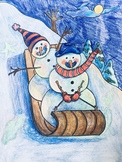 Snowmen at Night Read Aloud and Guided Drawing