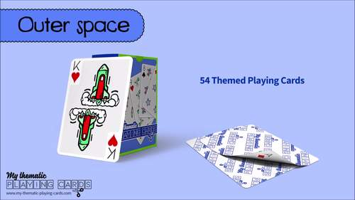 Outer Space Themed Playing Cards Deck