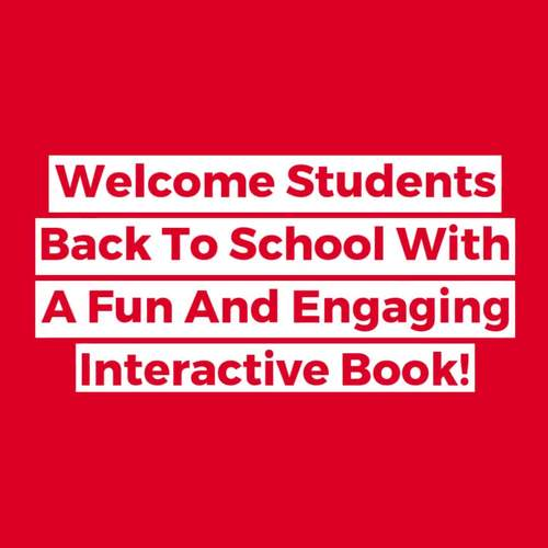 Back To School Adapted Book