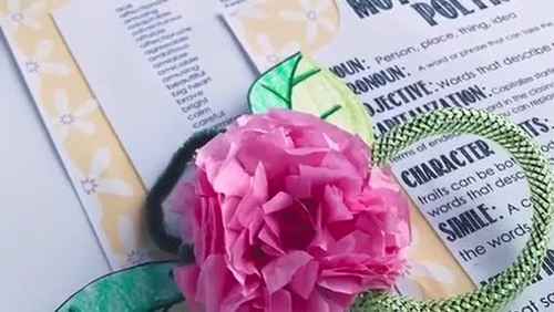 Mother's Day Craft / Project Upper Grades / Poem & Corsage