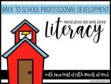 Back to School Professional Development: Phonemic Awarenes
