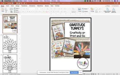 Gratitude Turkeys Craftivity or Print and Go!
