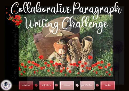 Paragraph Writing  Challenge- Remembrance Day