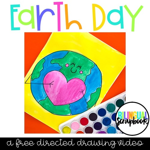 Earth Day Directed Drawing Freebie