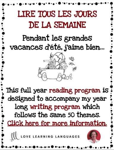 Lire tous les jours de la semaine #30 - French reading program