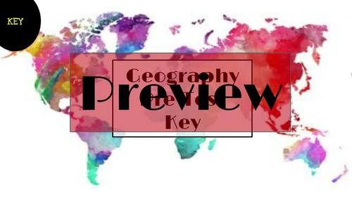 World Geography Pretest and/or Post Test