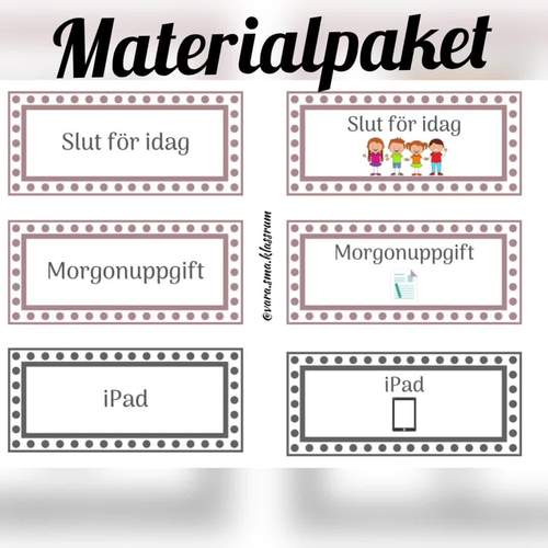 Materialpaket - struktur