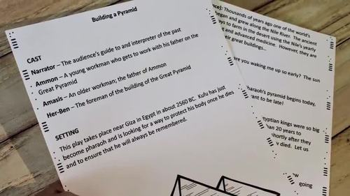 Ancient Egypt Reader's Theater Plays (With Leveled Parts)